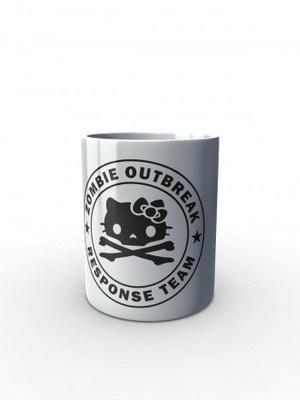 Bílý hrnek Zombie Outbreak Response Team Hello Zombie