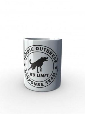 Bílý hrnek Zombie Outbreak Response Team K9 Unit