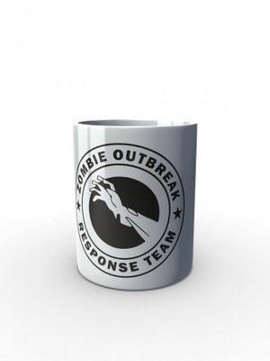 Bílý hrnek Zombie Outbreak Response Team Zombie Hand