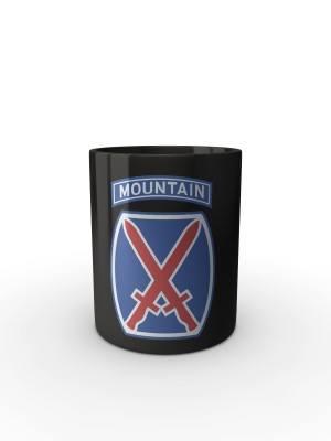 Černý hrnek 10th mountain division
