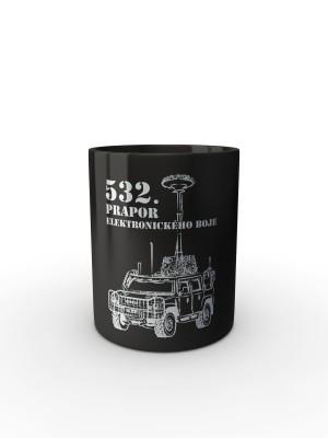 Černý hrnek 532. prapor elektronického boje - IVECO