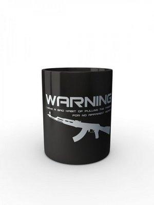 Černý hrnek BAD HABIT AK-47