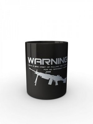 Černý hrnek BAD HABIT M249