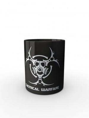 Černý hrnek Biohazard Chemical Warfare