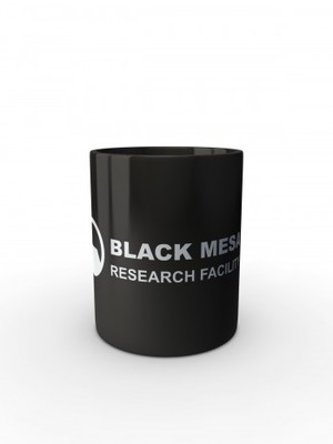 Černý hrnek Black Mesa Research Facility Line
