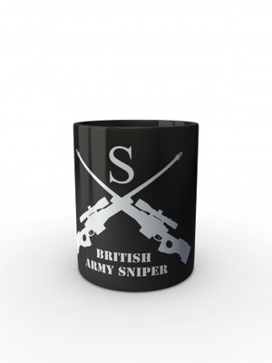 Černý hrnek BRITISH ARMY SNIPER