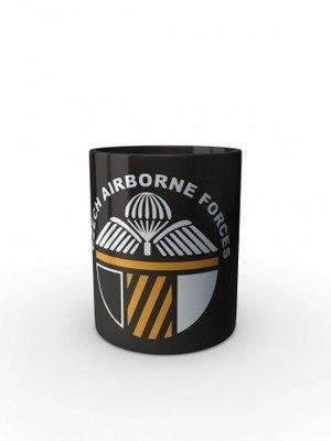 Černý hrnek CAF 43rd Airborne Battalion