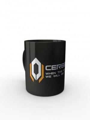 Černý hrnek CERBERUS