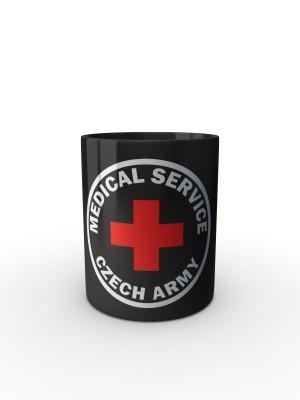 Černý hrnek CZECH ARMY MEDICAL SERVICE