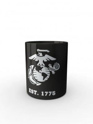 Černý hrnek EGA Marines EST. 1775