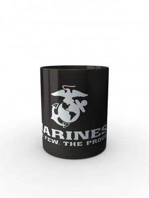 Černý hrnek EGA Marines The Few The Proud