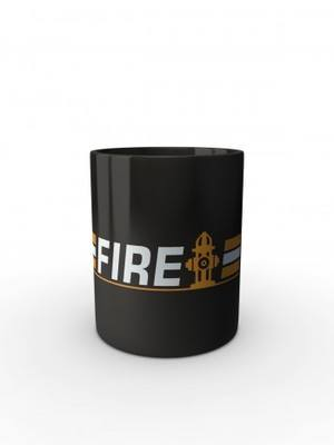 Černý hrnek FIRE