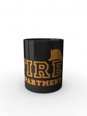 Černý hrnek FIRE Department