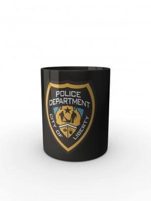 Černý hrnek GTA Police Department City of Liberty