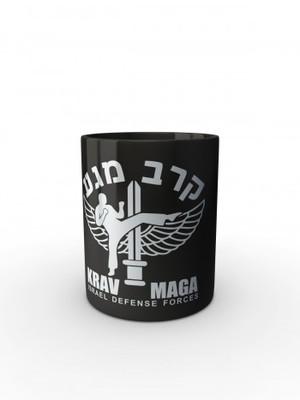 Černý hrnek IDF Krav Maga
