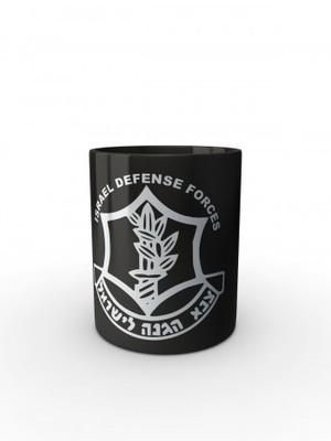 Černý hrnek IDF ZAHAL