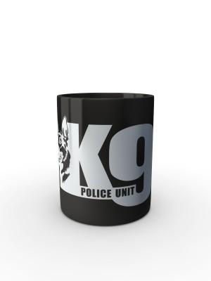 Černý hrnek K9 Police Unit
