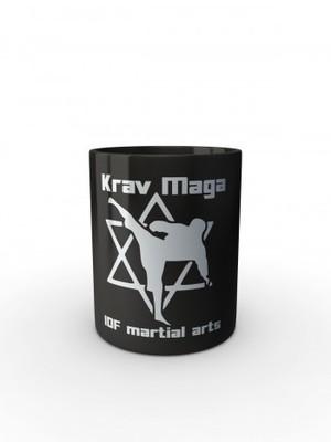 Černý hrnek Krav Maga IDF martial arts