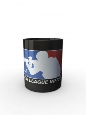 Černý hrnek Major League Infidel