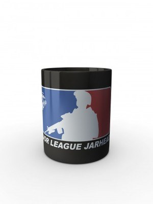 Černý hrnek Major League Jarhead
