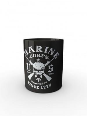Černý hrnek Marine Corps Made Tough