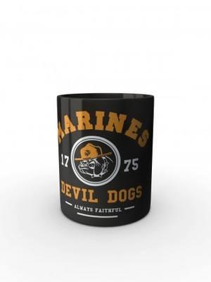Černý hrnek Marines Devil Dogs