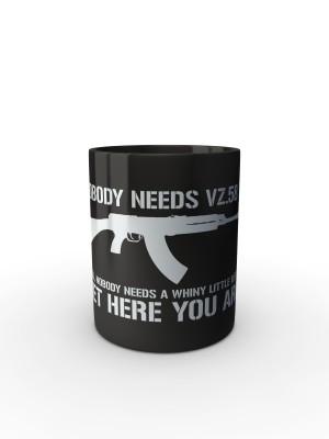 Černý hrnek Nobody needs SA58?