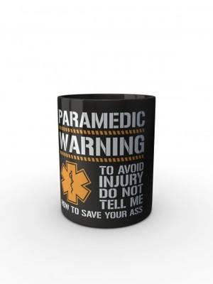 Černý hrnek PARAMEDIC WARNING
