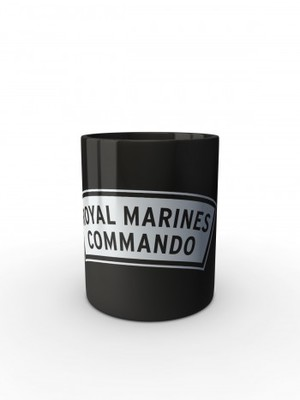 Černý hrnek ROYAL MARINES COMMANDO