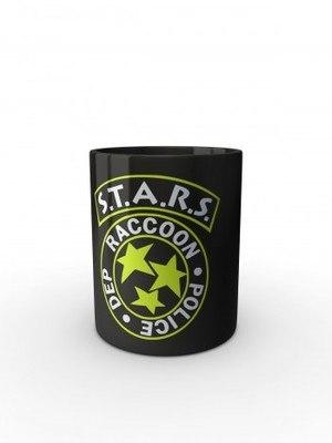 Černý hrnek S.T.A.R.S. R.P.D. Special Tactics and Rescue Service