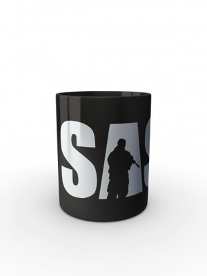 Černý hrnek SAS Rifleman