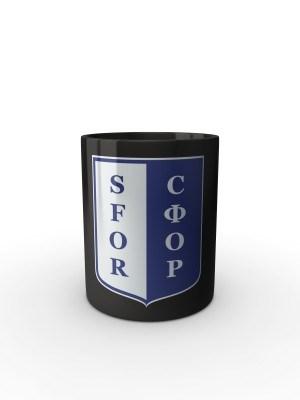 Černý hrnek SFOR