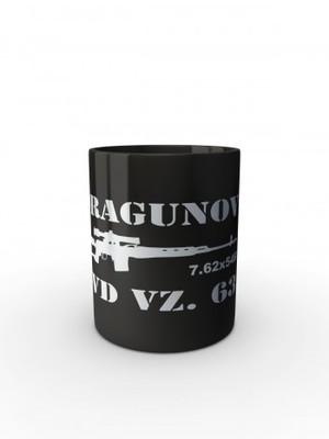 Černý hrnek SVD Dragunov