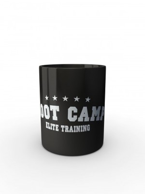 Černý hrnek U.S. ARMY BOOT CAMP ELITE TRAINING