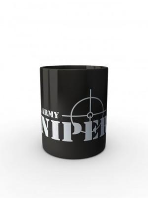 Černý hrnek U.S. ARMY SNIPER
