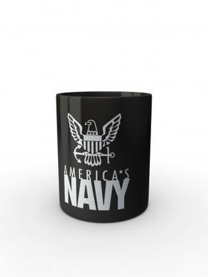 Černý hrnek U.S. NAVY Americas Navy Eagle