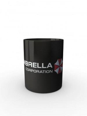 Černý hrnek Umbrella Corporation Line