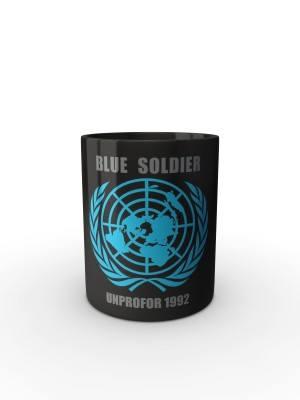 Černý hrnek UNPROFOR - BLUE SOLDIER 1992