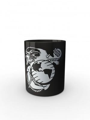Černý hrnek USMC EGA Eagle