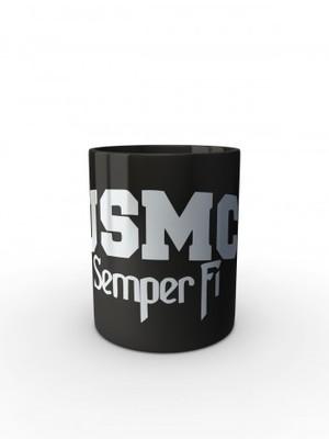 Černý hrnek USMC Semper Fi