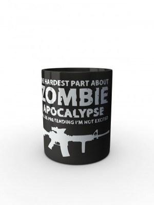 Černý hrnek Zombie Apocalypse M4 Carbine
