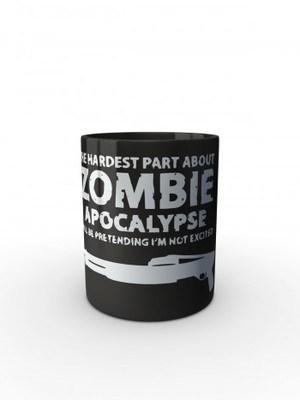 Černý hrnek Zombie Apocalypse Shotgun FORT