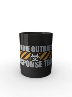 Černý hrnek Zombie Outbreak Response Team