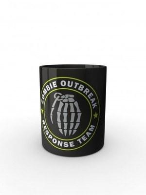Černý hrnek Zombie Outbreak Response Team Hand Grenade