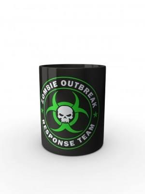 Černý hrnek Zombie Outbreak Response Team Skull