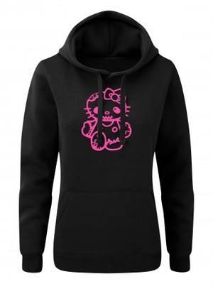 Dámská mikina s kapucí Hello Kitty Zombie