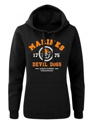 Dámská mikina s kapucí  Marines Devil Dogs