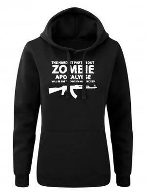 Dámská mikina s kapucí Zombie Apocalypse Kalashnikov AKM