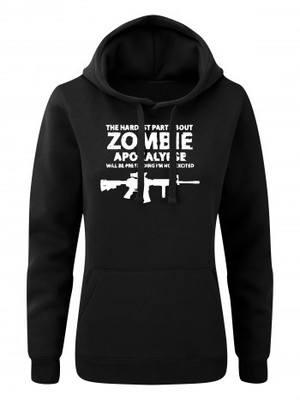 Dámská mikina s kapucí Zombie Apocalypse M4 Carbine