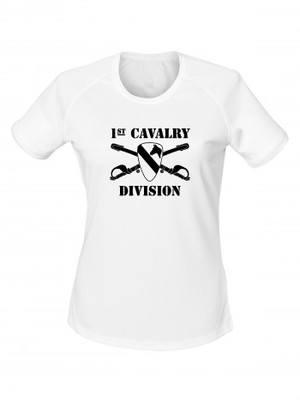 Dámské funkční tričko 1st Cavalry Division Sabres and Horse